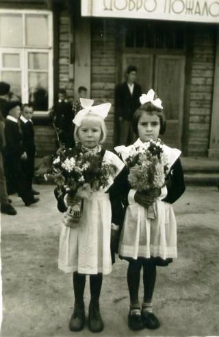 1 сентября 1963 года, 1 класс, из альбома Годовиковой  ТМ (Бурцева)