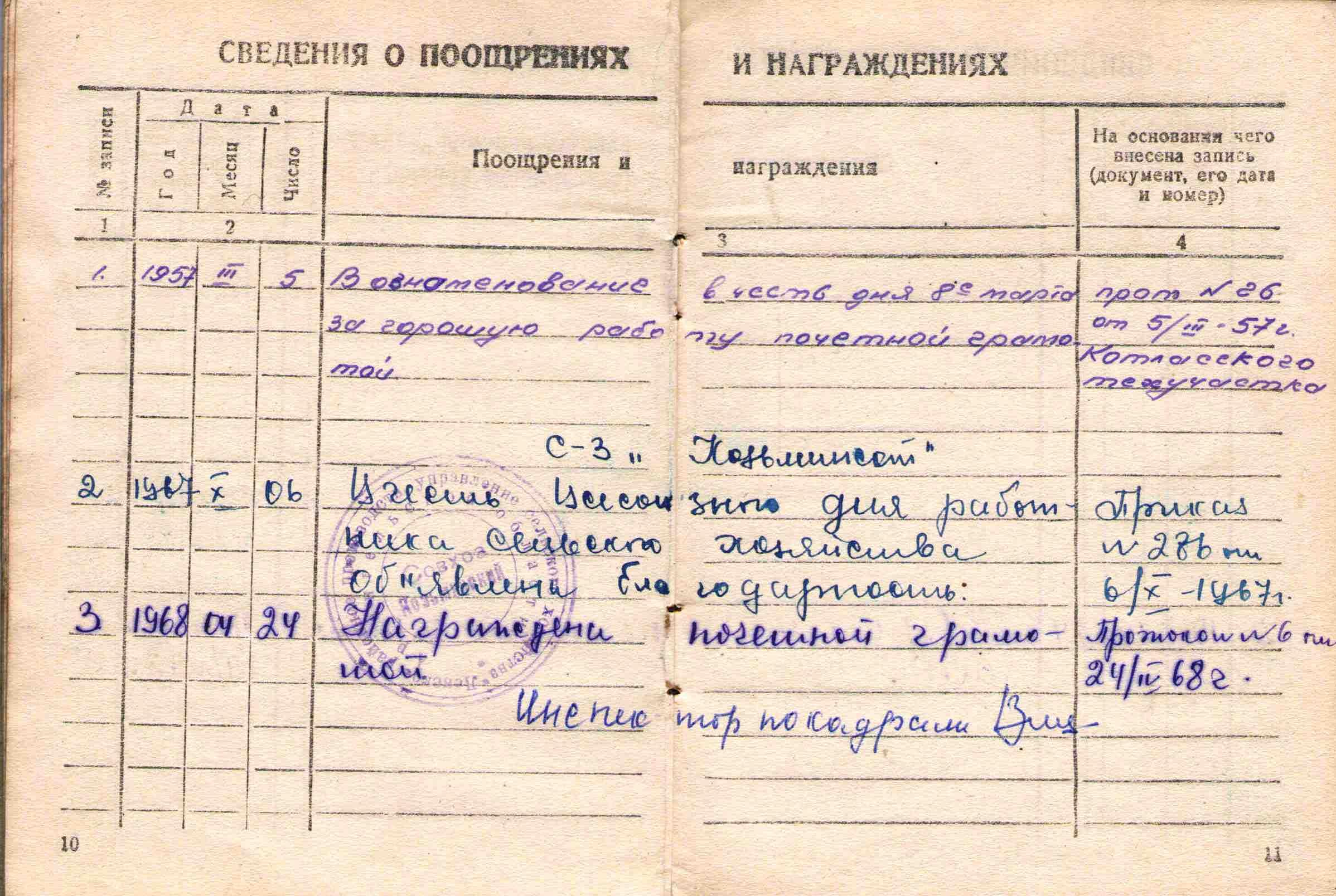 14. Трудовая книжка, 1956