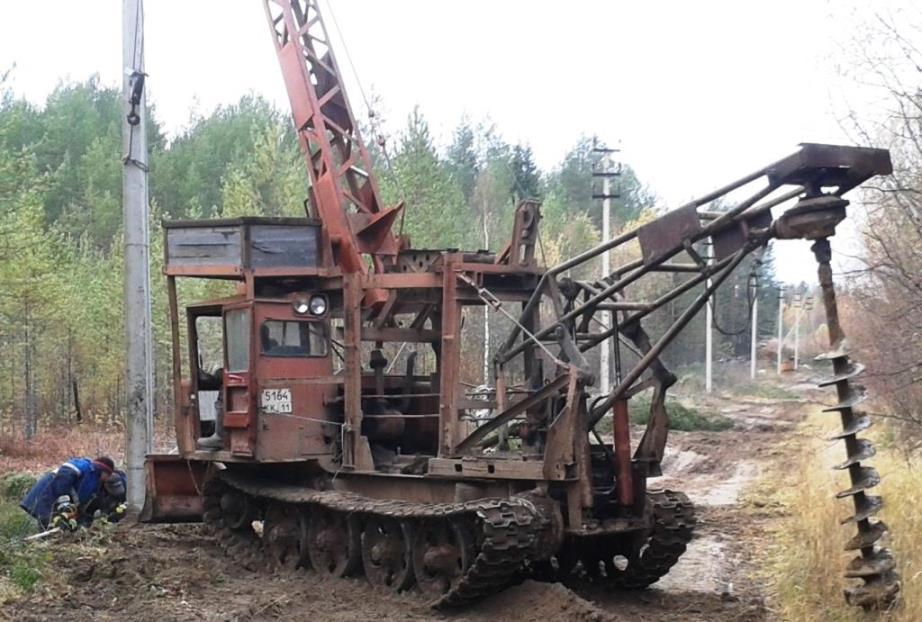 14.10.2018, п.Урдома. Строительство ЛЭП Урдома-Шиес в городском лесу.