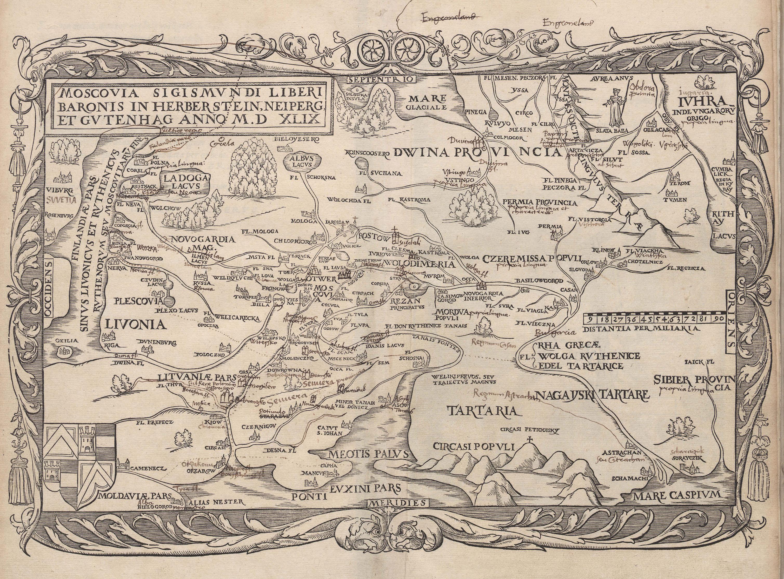 """""""Карта Московии Герберштейна 1551 года"""""""