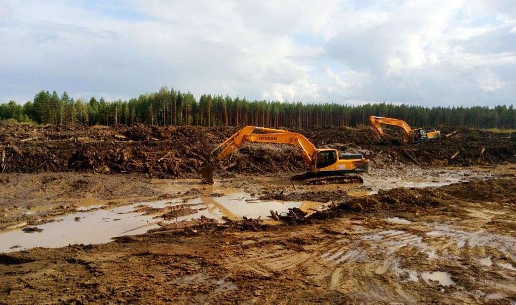 16.08.2018, ст.Шиес стоит на болотах, строители не могут отвести воду. А.Кравец