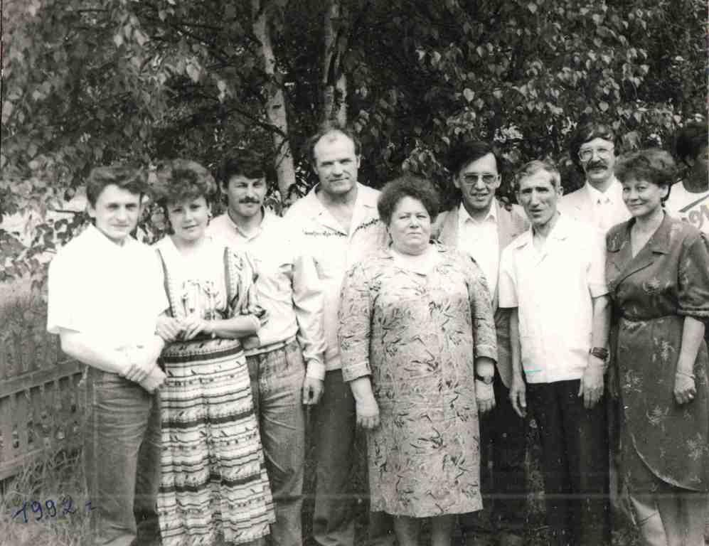 1992 год. Наши врачи вместе с поваром.