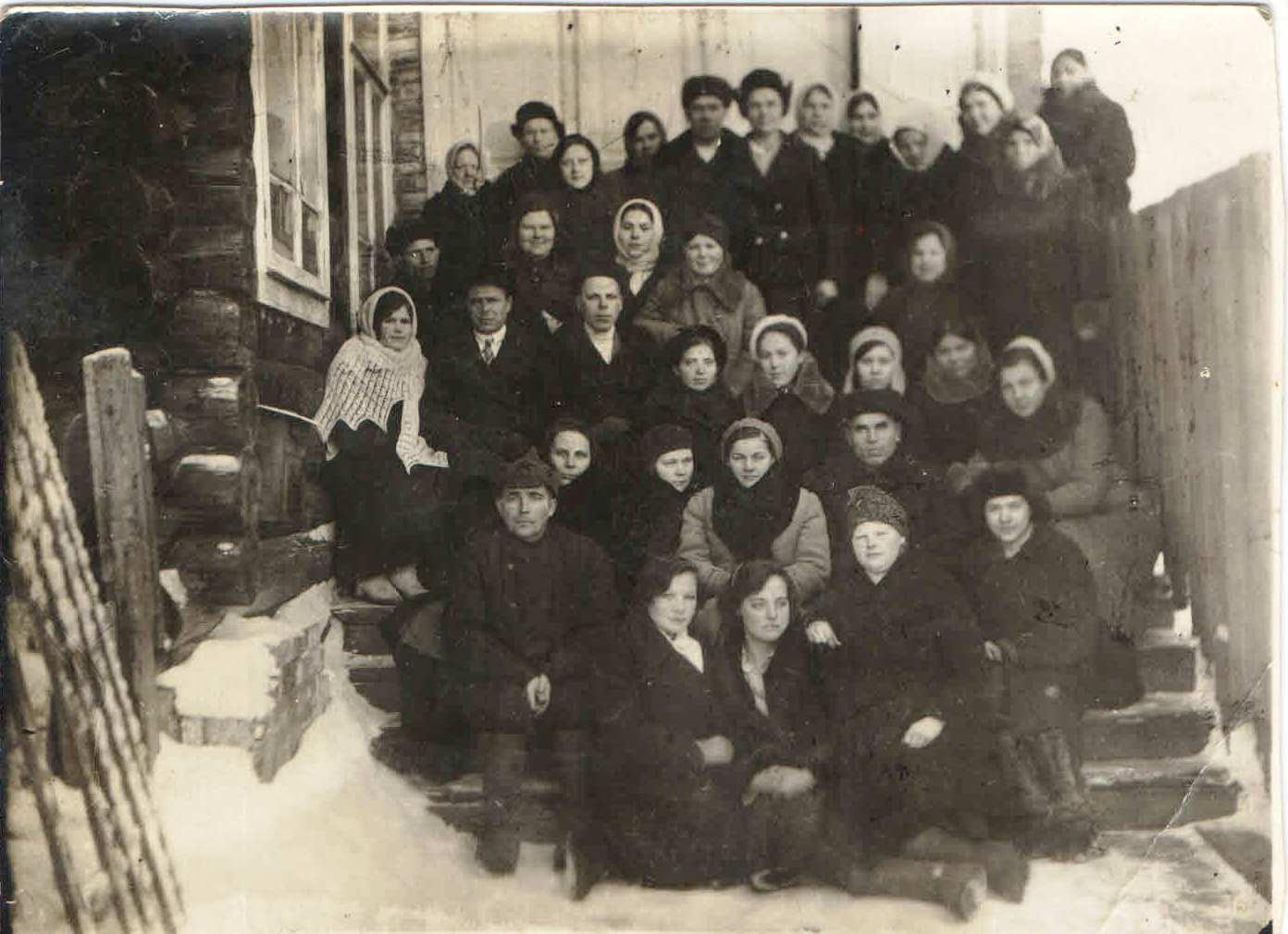 1940-е, п.Нянда. Няндская почта. Слёт работников. Семейный архив Геец (Богомолова) Ю.А., п.Урдома.