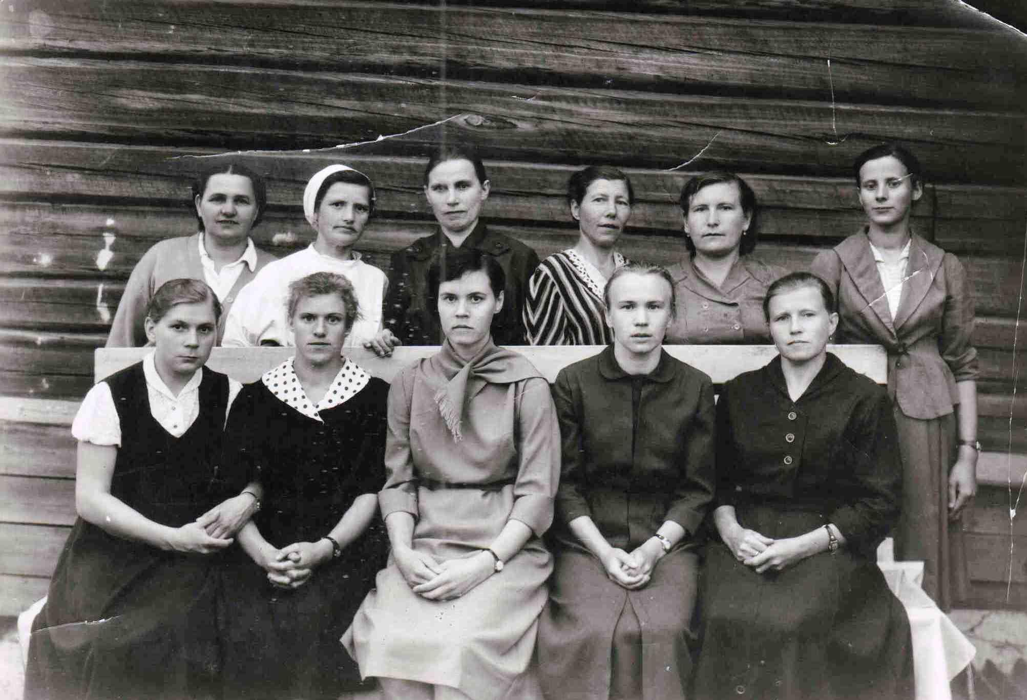 1960, п. Вандыш, коллектив больницы.