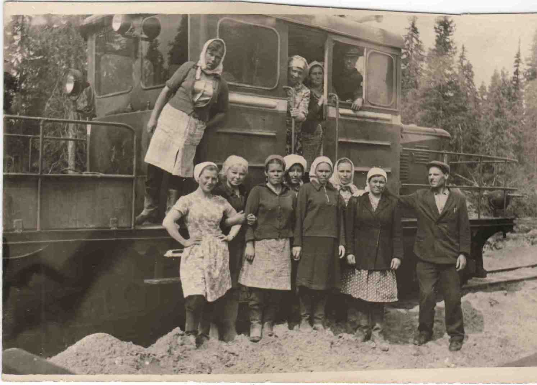 1970-е. Мотовоз на Урдомской УЖД.