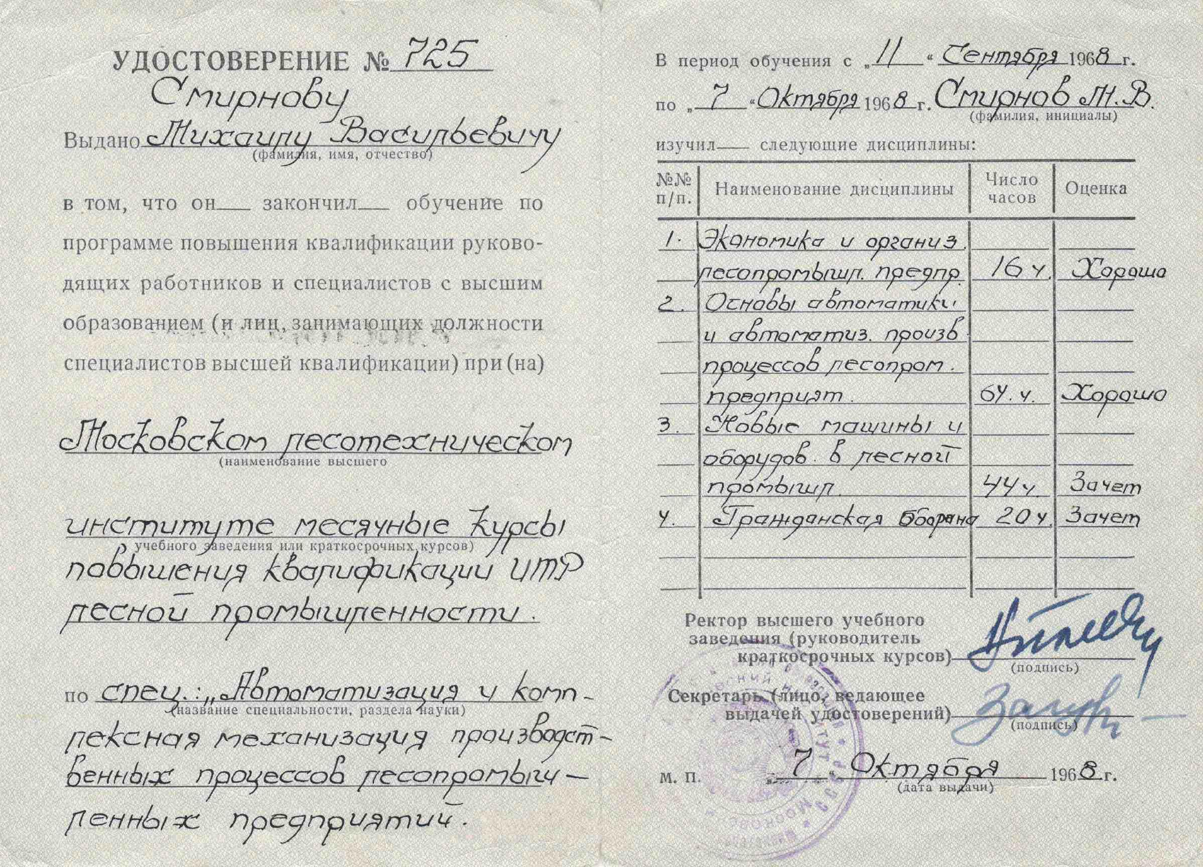 2. Удостоверение