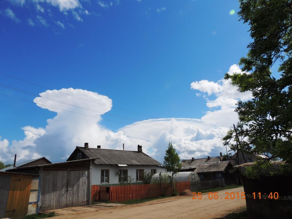 25.05.2015. Урдома, ул. Южная. Необычное природное явление. Облака.