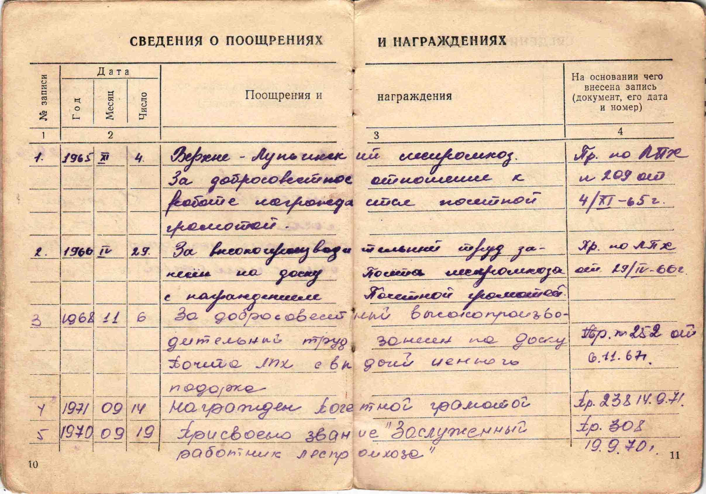 6. Трудовая книжка, 1954г.