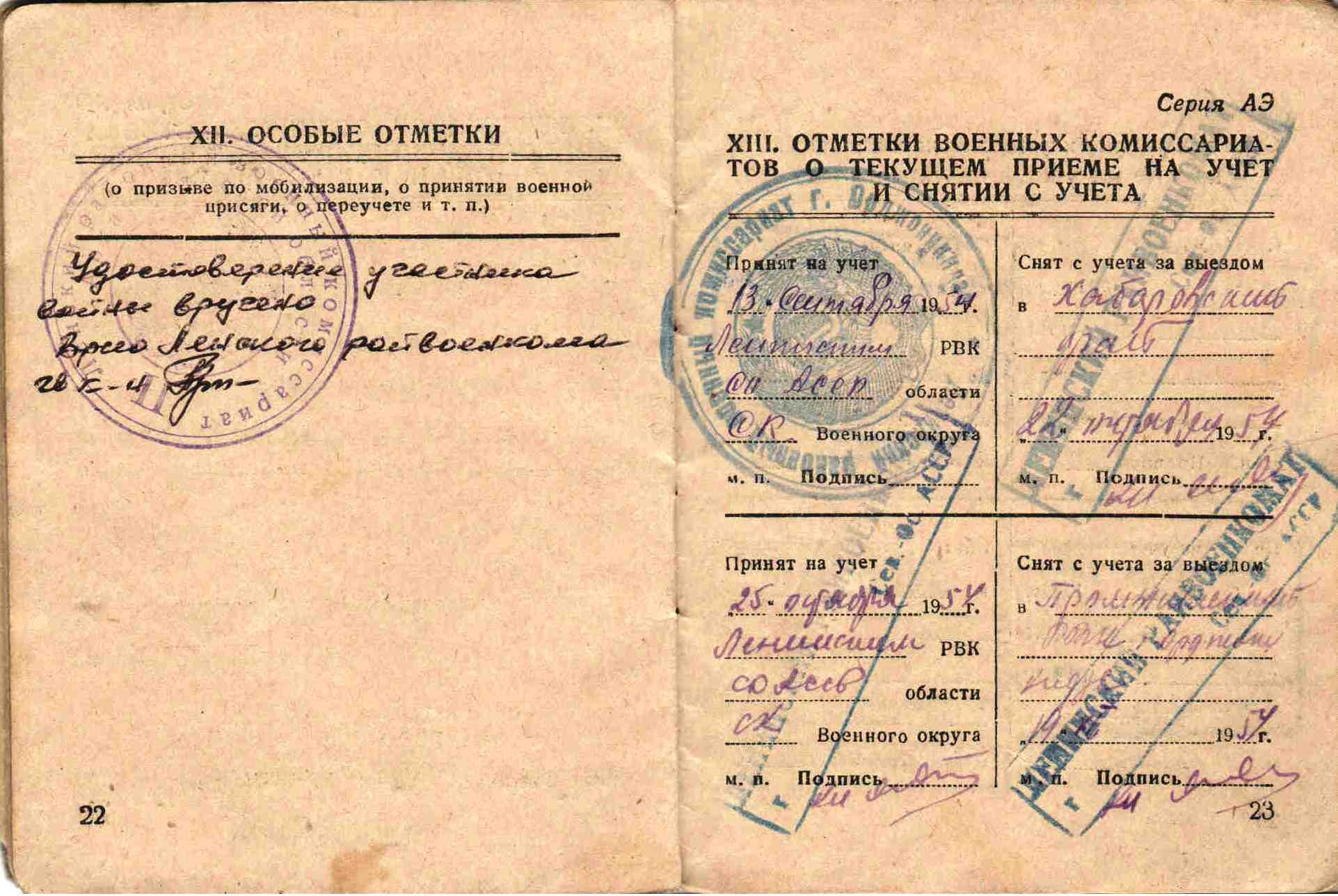6. Военный билет, Таучелов Р.Н. (6)