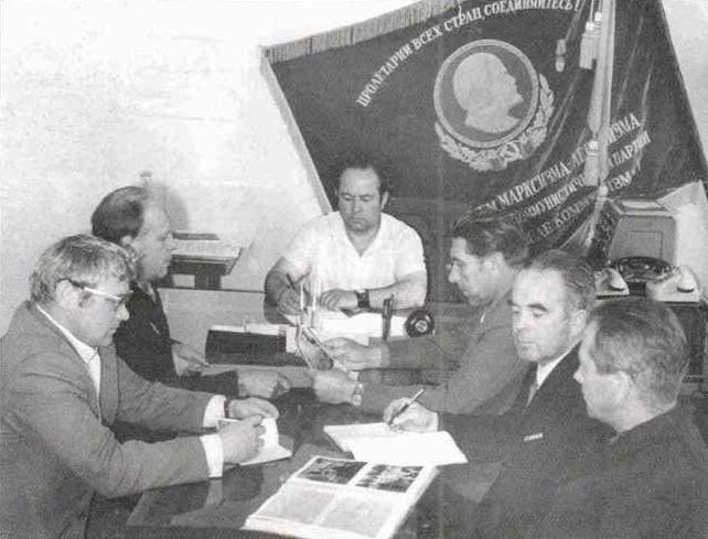 Бобылев Н.А., совещание в леспромхозе