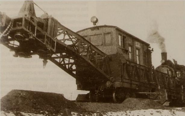 Экскаватор на строительстве Печорской железной дороги