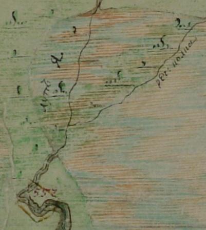 Карта 1782-96 гг, речка Колка. Генеральный план Сольвычегодского уезда Часть II-я листы 2 и 3, «Маштаб кплану «ваглицском дюйме 2 версты»