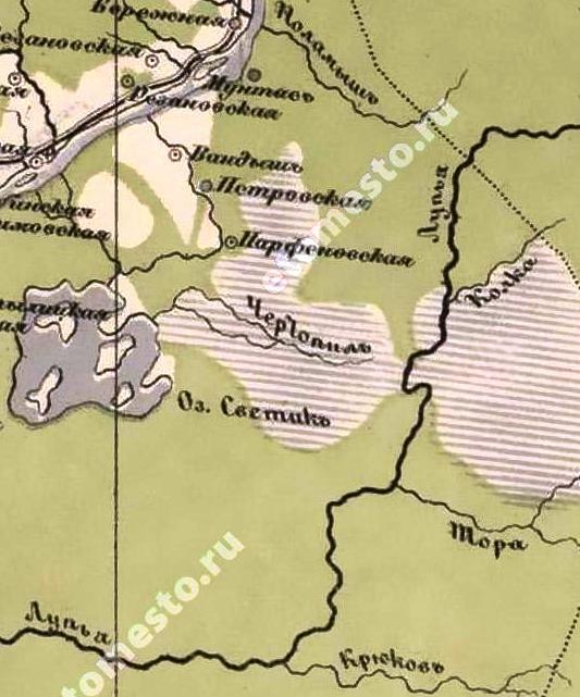 Карта 1871 г, речка Колка. Новая специальная карта Европейской России создана под руководством Ивана Афанасьевича Стрельбицкого.