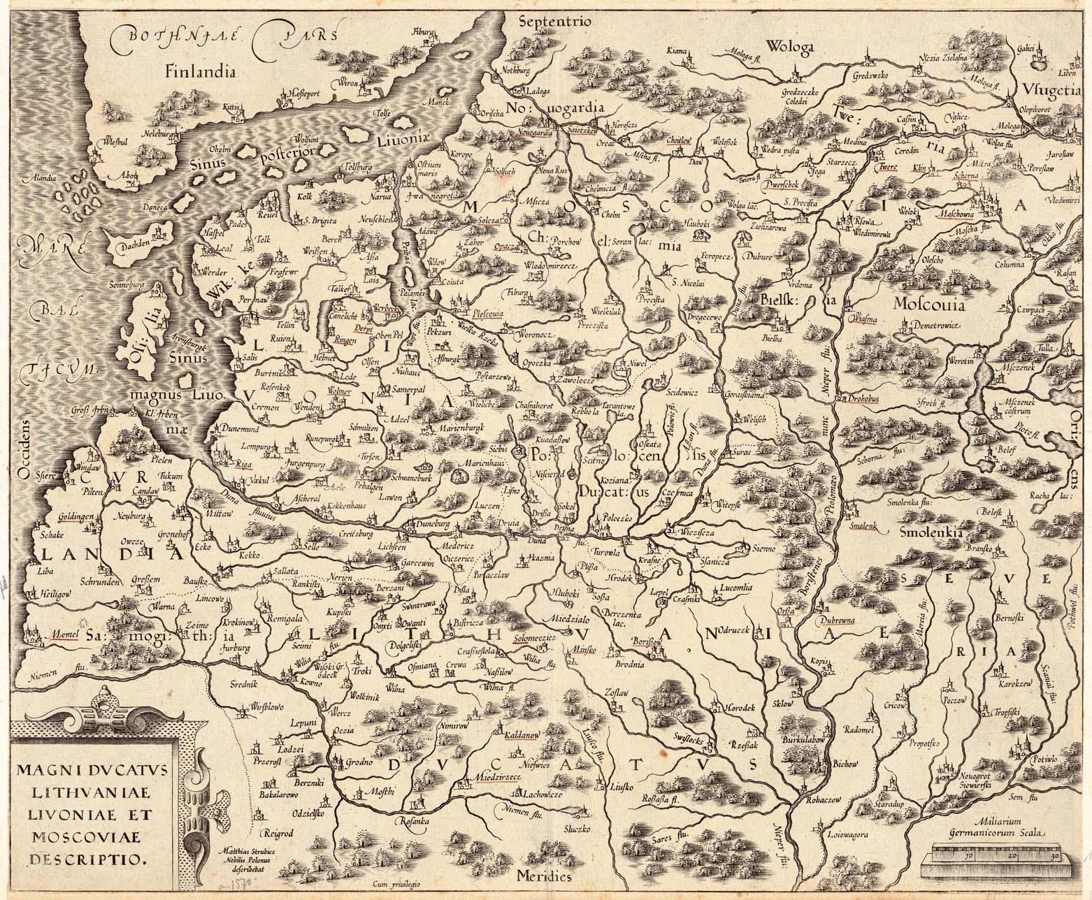 Карта. Великое княжество Литовское в 1586 году. Wikimedia