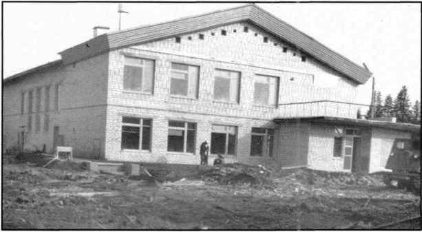 1978, п.Урдома. На Первомайке построен новый кирпичный Дом культуры, 1978.