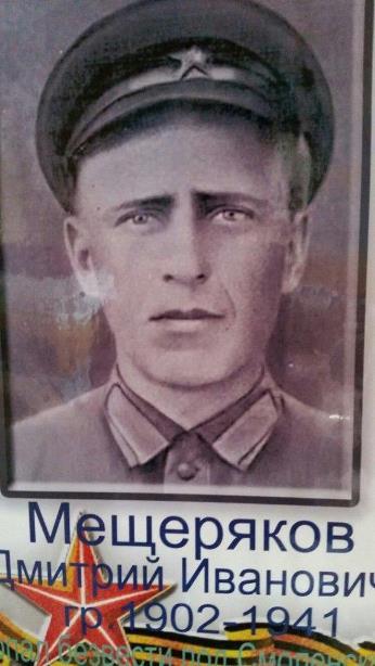 Мещеряков Дмитрий Иванович - не вернулся с Великой Отечественной войны.