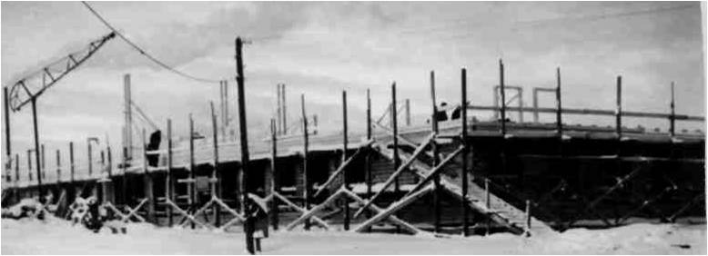 Первый этаж УСШ был закончен в начале 1963