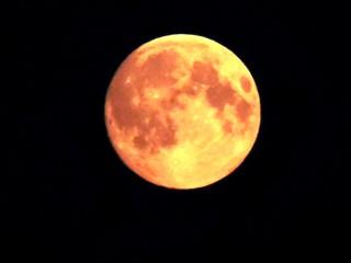 Полнолуние. Вид из Урдомы в 00 ч. 33 мин. 23.06.13 г.