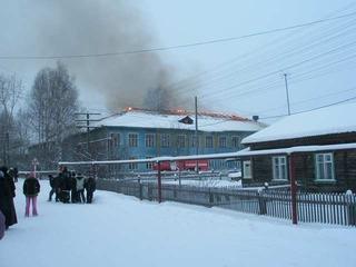 Пожар УСШ. 13.12.2007
