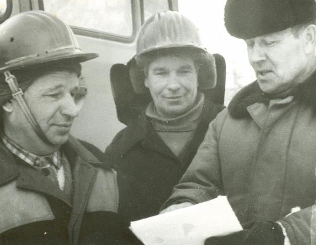 Слева направо - Букашкин Николай Яковлевич, Гупало Иван Николаевич, Байбородин Василий Григорьевич.