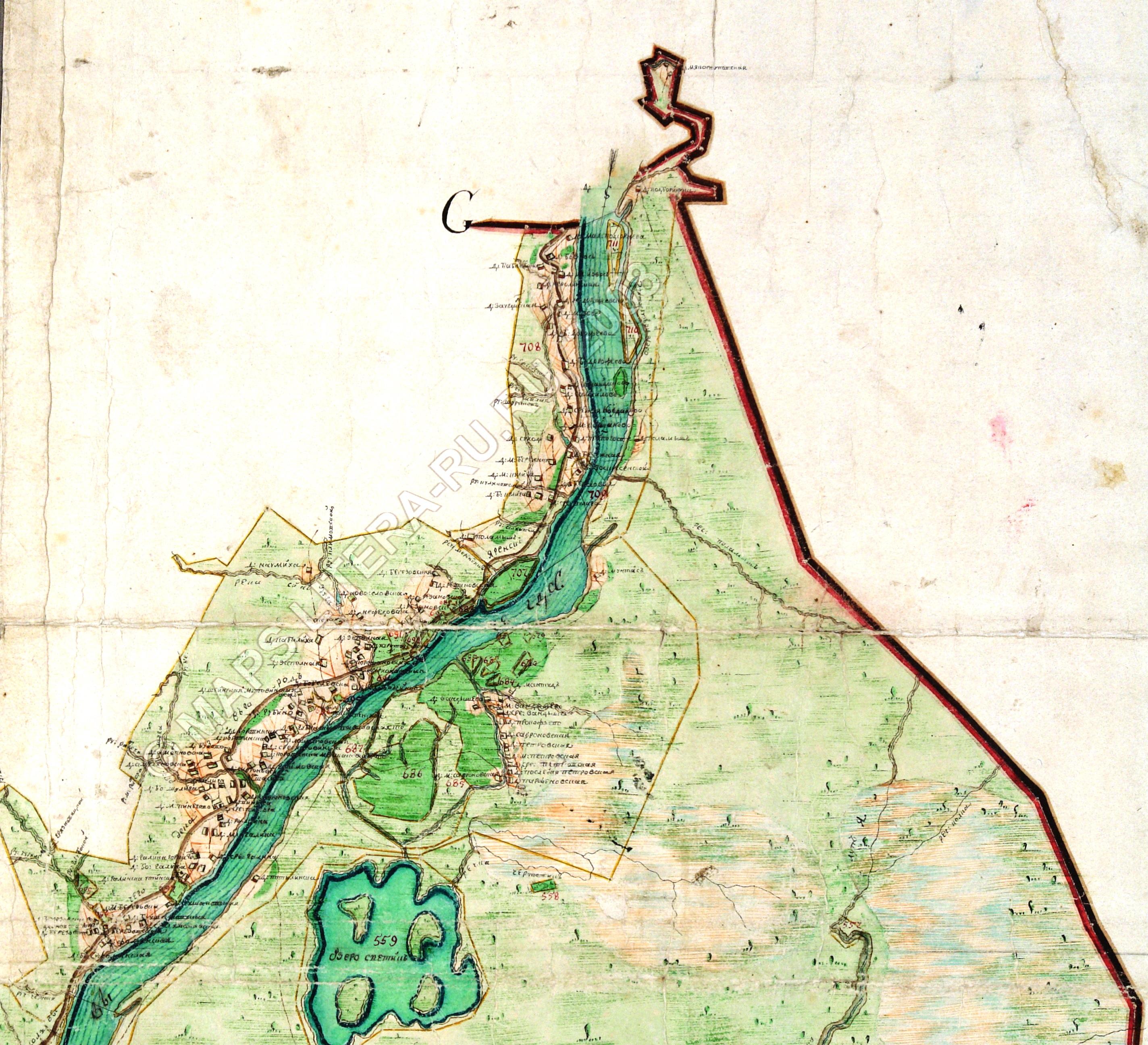 Сольвычегодский уезд ч2-02, дача, РГАДА. Карта