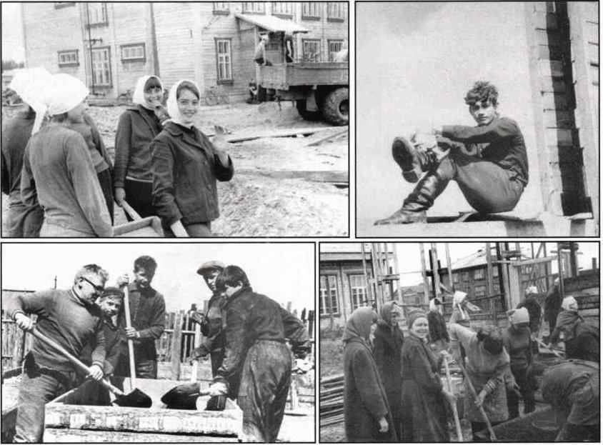 1965-68. УСШ. Строительство школьных мастерских, столовой, клуба.