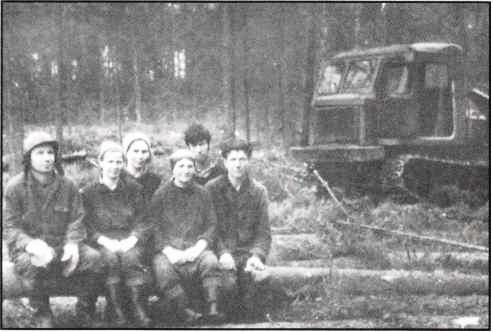 ТДТ-60, бригада Букашкина Н.Я, Урдомский лесопункт