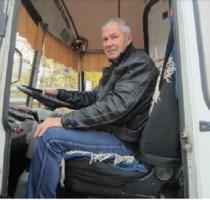 Турисов Вячеслав Михайлович, водитель рейсового автобуса в п.Урдома. Газета ВУ от 27.10.2017 г.