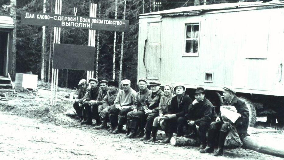 Вахтовый участок Таежный  в Тывском лесопункте. ЯКМ.