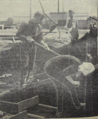 Вася Меньшаков, строительство школьного клуба, 29.06.1968