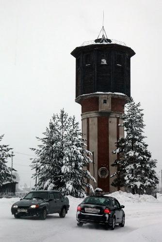 Январь 2014. Пожарная часть ПЧ-72. Урдома.  (12) Водонапорная башня.