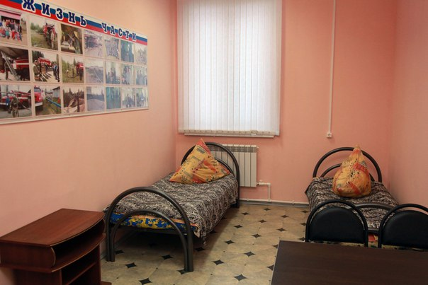 Январь 2014. Пожарная часть ПЧ-72. Урдома.  (8) Комната отдыха.