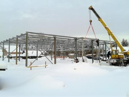 фото 04.02.2014. п. Урдома, ул. Паламышская. Строительство начато в марте 2013 года.