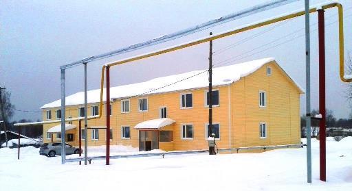фото 28.01.2016. Многоквартирный двухэтажный дом, ул. Водная, д. 2. Фундамент заложен в сентябре 2013 года. Построен на месте продовольственного магазина ОРСа, который снесен летом 2013 года.