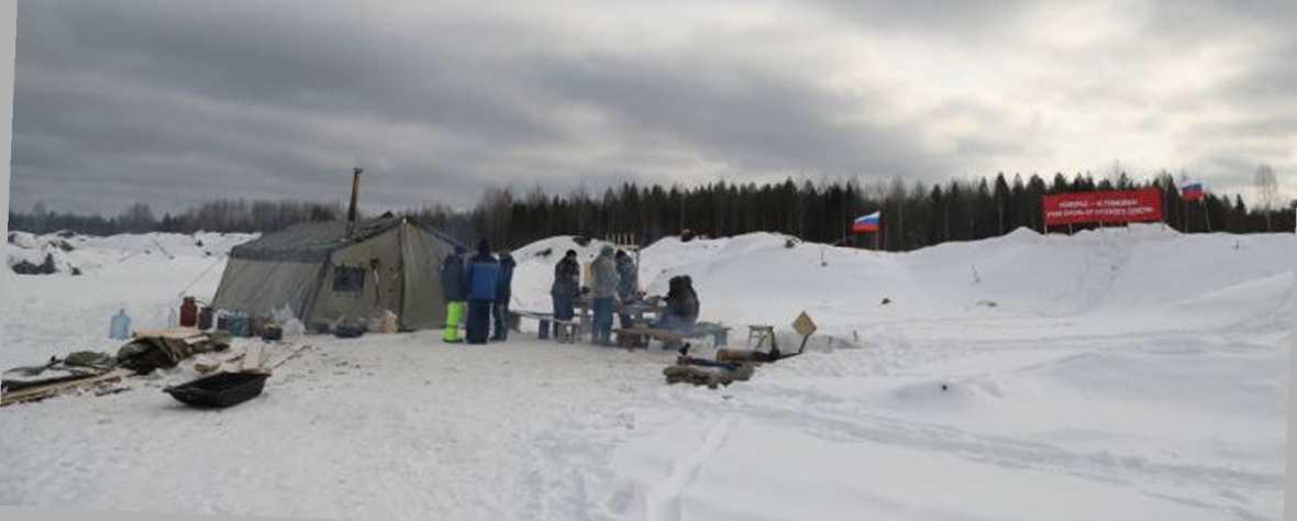 март 2019, ст.Шиес. Армейская палатка активистов, позывной «Ленинград». А.Кулешов